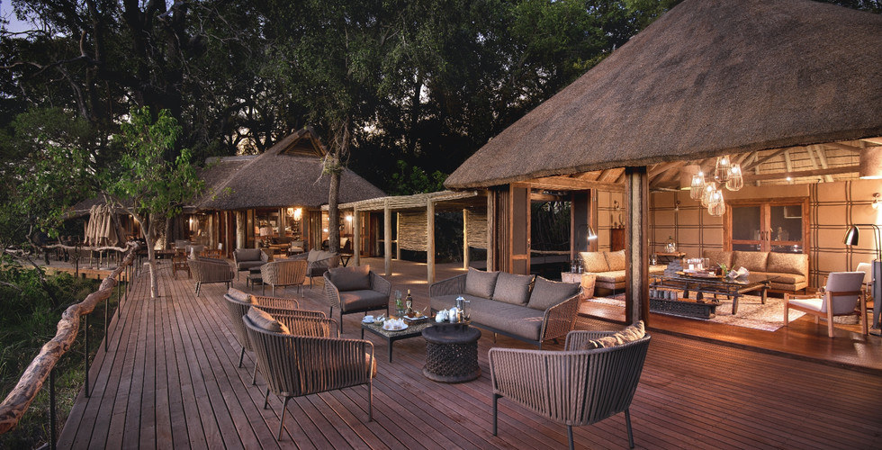 Nxabega Okavango Delta Lodge - Outdoor Communal Deck