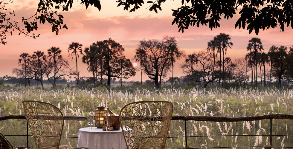 Sandibe Okavango Delta Lodge -Viewing Deck