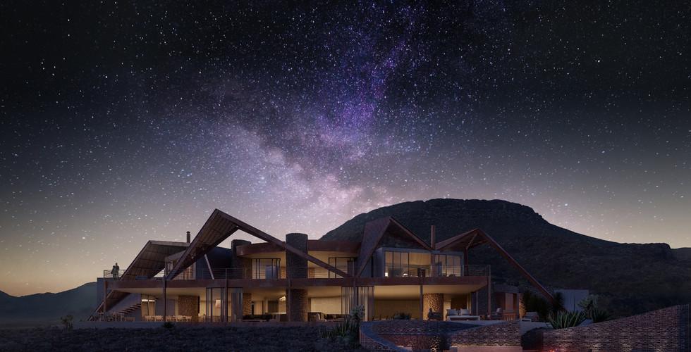 &Beyond - Sossusvlei Exterior View Night