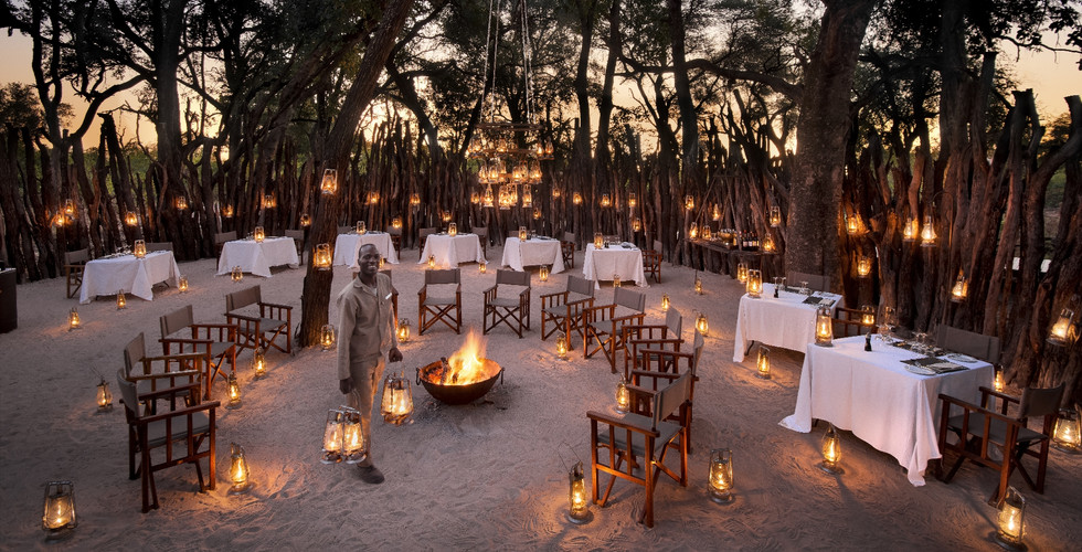 Nxabega Okavango Delta Lodge - Outdoor Dining Boma