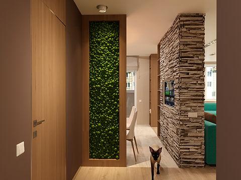 Интерьер квартиры в современном стиле жилой комплекс Парковый г. Уфа