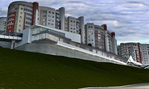 3D визуализация офисного здания по ул. Карла Маркса г. Уфа