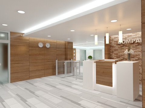 интерьер офиса в современном стиле офисное здание Рихарда Зорге 3 г. Уфа