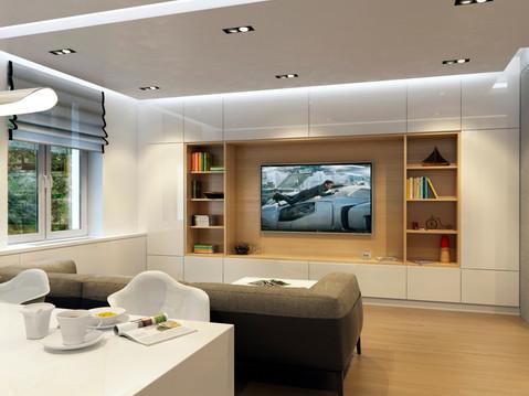 Интерьер квартиры в современном стиле Дворец Орджоникидзе г. Уфа