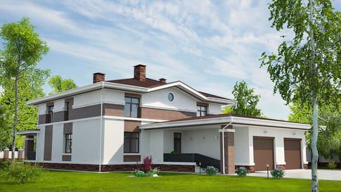 Частный дом, коттедж в г. Москва 3D визуализация
