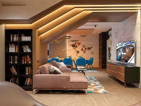 Интерьер квартиры в современном стиле улица Гоголя г. Уфа