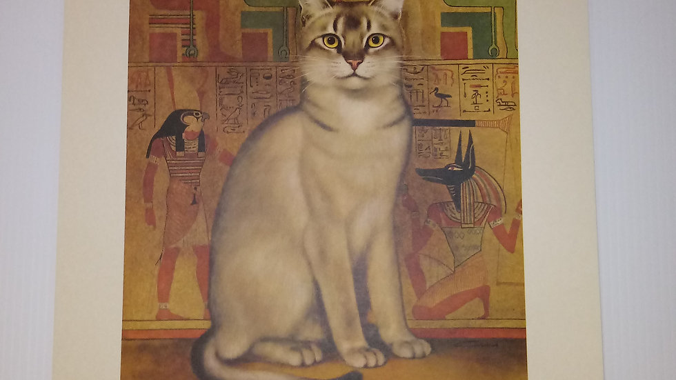 Abyssinian Oil Painting By Girard Goodenow Womans Day 1965