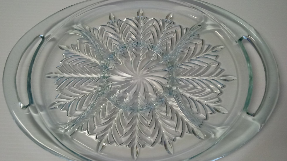 Depression glass, 5 part divided glass serving dish