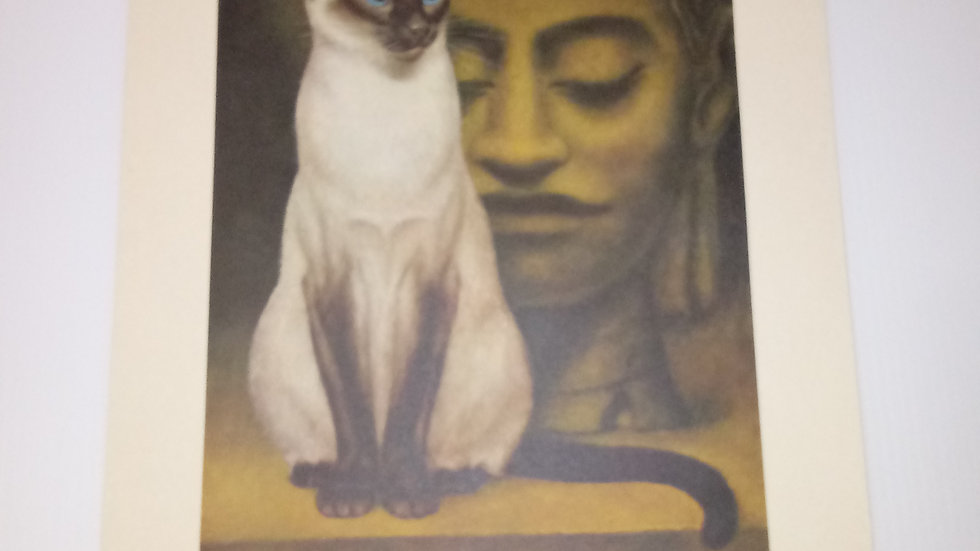 Siamese Oil Painting By Girard Goodenow Womans Day 1965