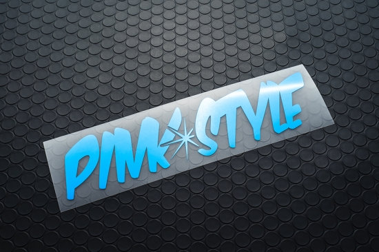 Pink Style METALLIC STICKER BLUE