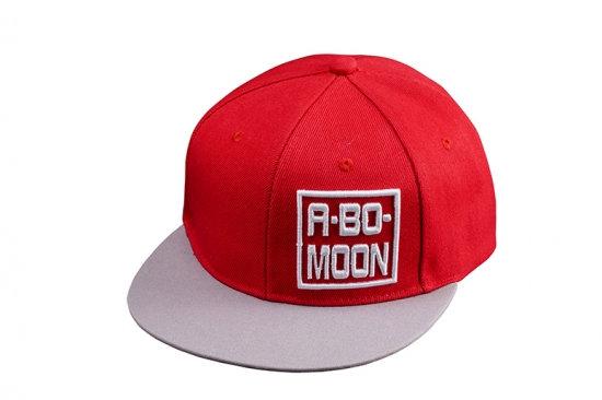 ABO~MOON CAP Red/Gray