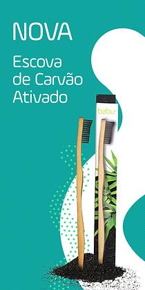Escova de Dentes de Bambu - Carvão Activado da Babu