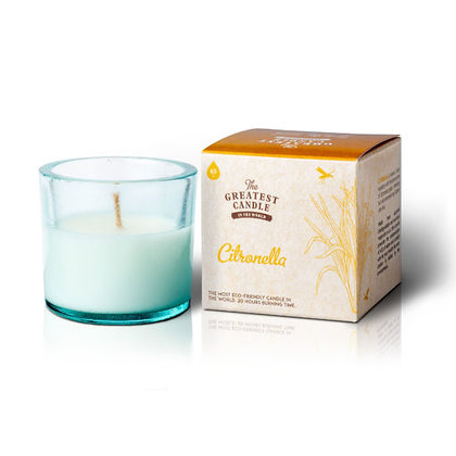 Vela Ecológica c/ Copo de Vidro Reciclado | Citronela | The Greatest Candle