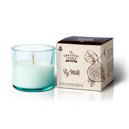 Vela Ecológica c/ Copo de Vidro Reciclado | Fig Milk | Greatest Candle