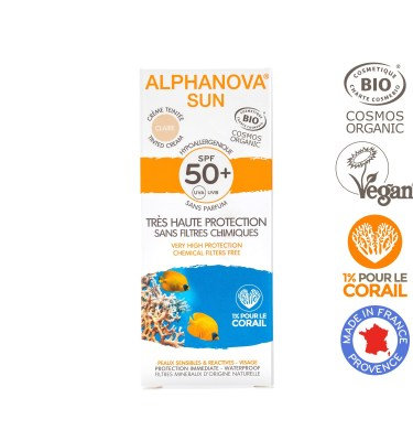 Creme Protector Solar Hipoalergénico c/ Cor (Claro) para Rosto da Alphanova