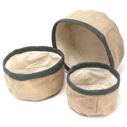 Conjunto de 3 cestos de Juta Natural | AW Artisan