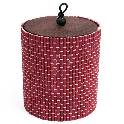 Caixa de Bambu   Vermelho   deRAIZ
