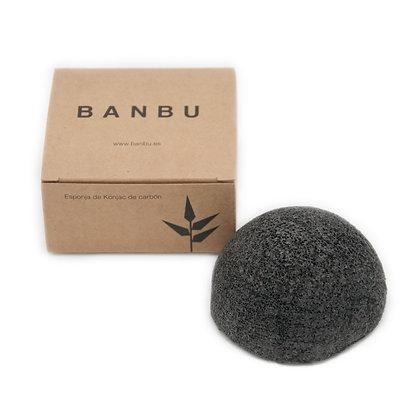 Esponja Konjac Rosto com Carvão Activado | Banbu