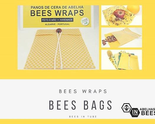 Bees Bags- Sacos de Pano de Cera de Abelhas da Bees in Tubes