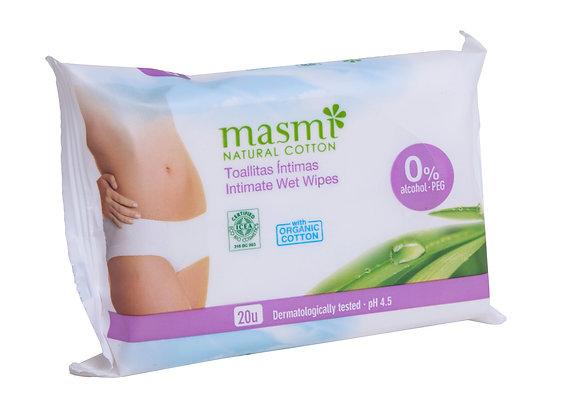 Toalhetes Higiene Íntima Feminina da Masmi Natural Cotton