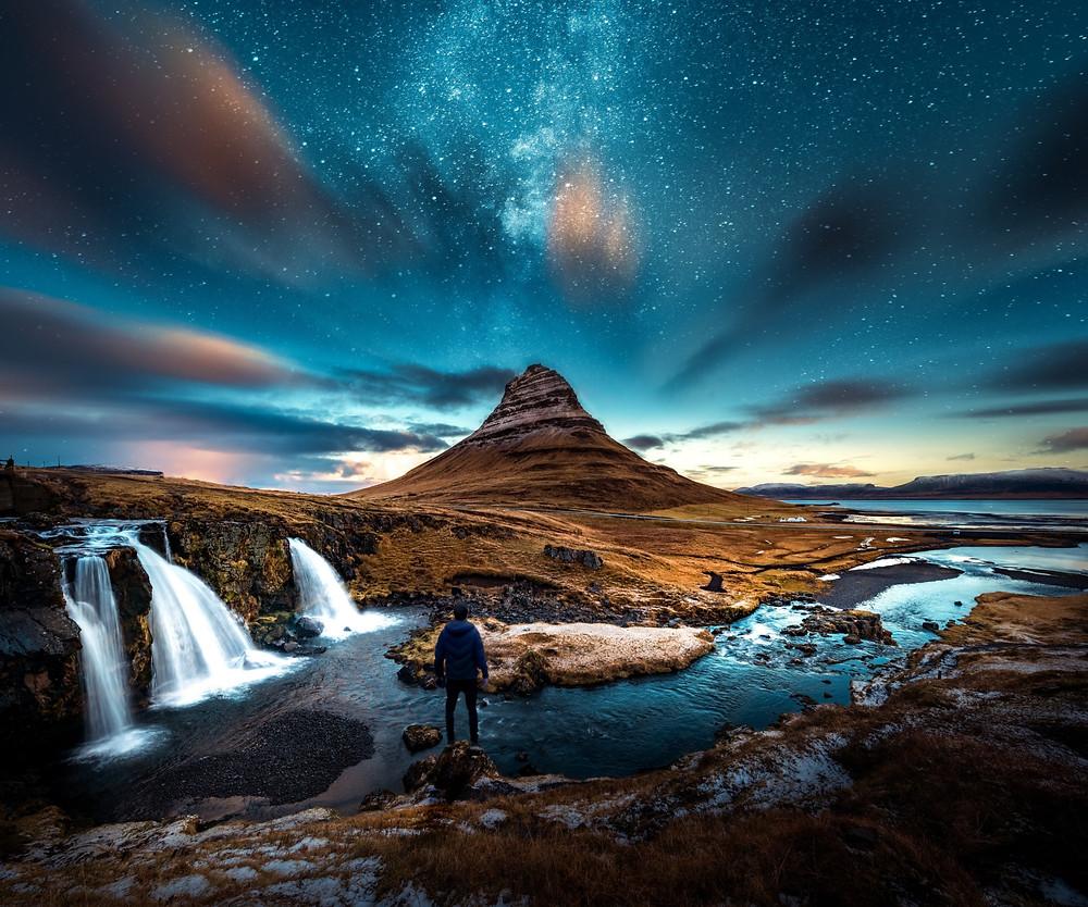 Time Lapse Photography of Mountain-cosmos-dark-