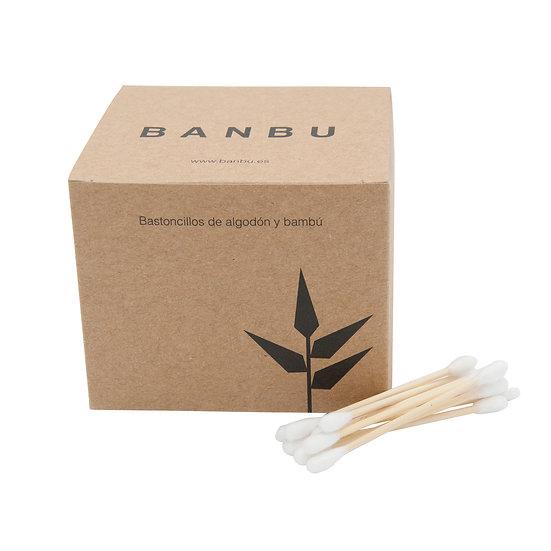 Cotonetes de Bambu e Algodão Biológico   Banbu