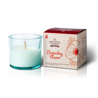 Vela Ecológica c/ Copo de Vidro Reciclado   Darjeeling Flower   The Greatest Candle