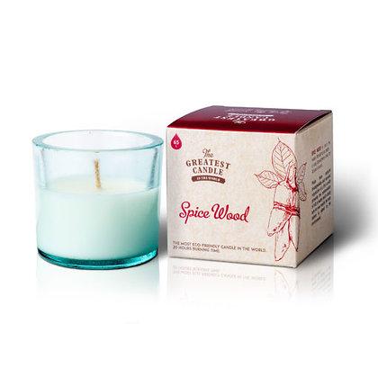 Vela Ecológica c/ Copo de Vidro Reciclado | Spice Wood | The Greatest Candle