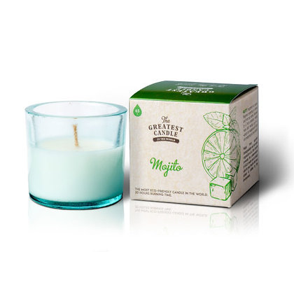 Vela Ecológica c/ Copo de Vidro Reciclado | Mojito | The Greatest Candle