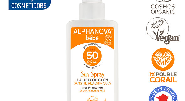 Spray Baby Sunscreen - SPF 50 Hypoallergenic