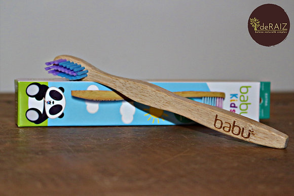 Escova de Dentes de Bambu- Criança da Babu