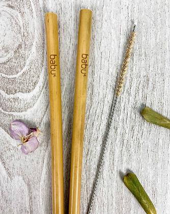 Conjunto Palhinhas de Bambú