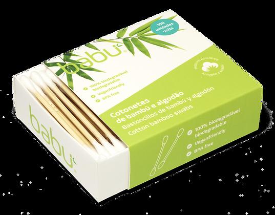 Cotonetes em Bambu e Algodão da Babú