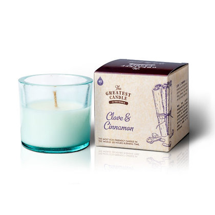 Vela Ecológica c/ Copo de Vidro Reciclado | Clove & Cinnamon | The Greatest Candle