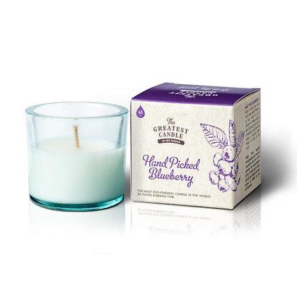 Vela Ecológica c/ Copo de Vidro Reciclado | Hand Picked Blueberry | The Greatest Candle