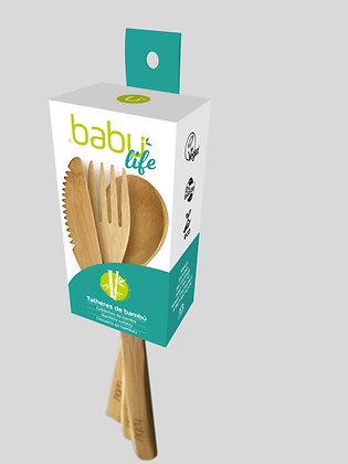 Conjunto de Talheres em Bambu da Babú
