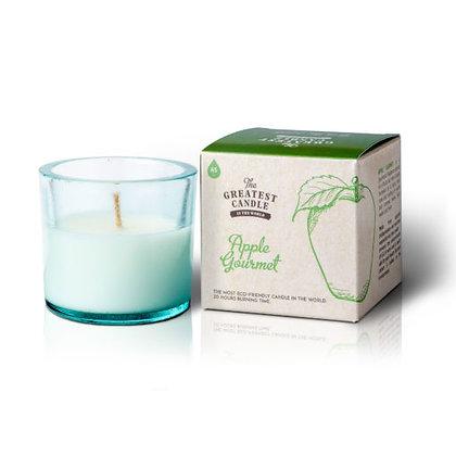 Vela Ecológica c/ Copo de Vidro Reciclado | Apple Gourmet | The Greatest Candle