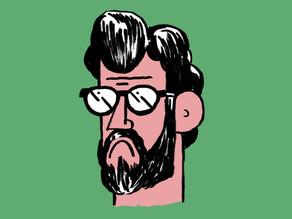 """""""A tristeza faz parte do espectro da felicidade"""", diz o cartunista  Pietro Soldi, em Londres"""