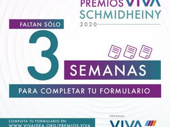 Quedan sólo 3 semanas para cerrar la convocatoria a los #PremiosVIVASchmidheiny 2020