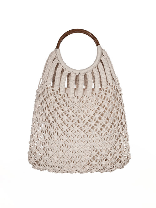 Handmade Macrame Cotton Handbag by Sheep and Wolves