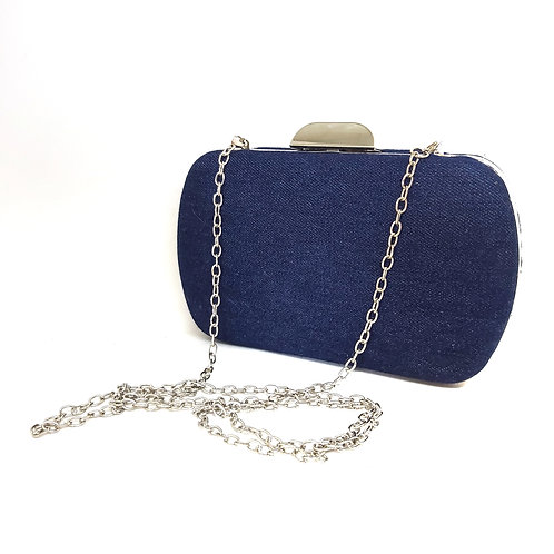 Blue Jean Clutch Bag