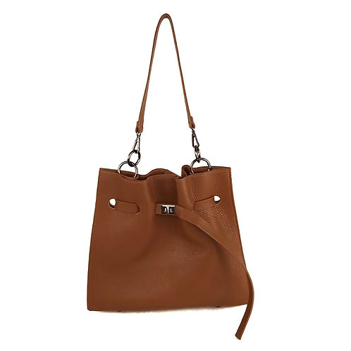 Handcrafted Tobacco Leather Hanbag