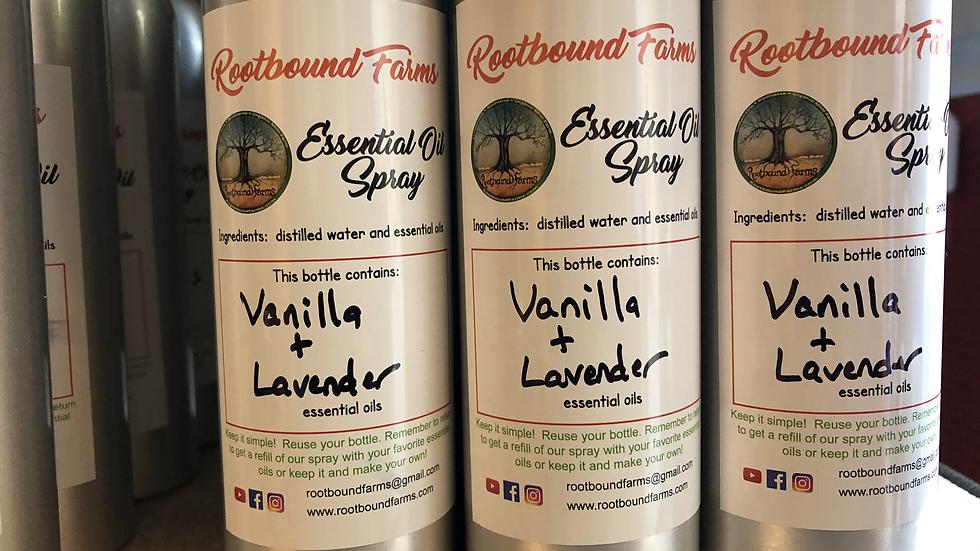 Vanilla Lavender Essential Oil Spray