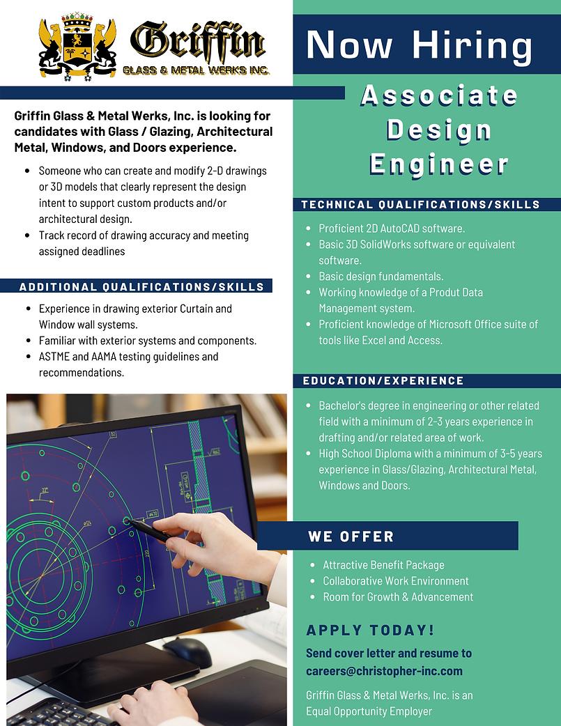 GRIFFIN Now Hiring Associate Design Engi