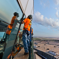 Air Traffic Control Tower Cab Glass Installation