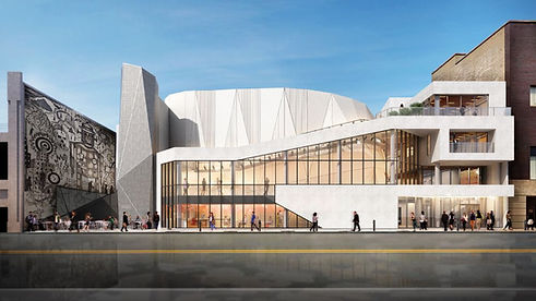 Exterior rendering image of Steppenwolf Theatre Company building in Chicago, Illinois