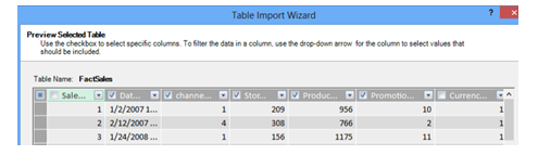MYPE table Import Wizard