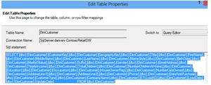 Edit Table Properties