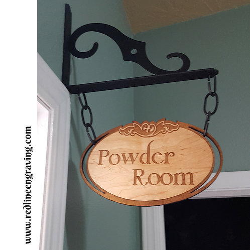 Custom Hanging Wood Sign