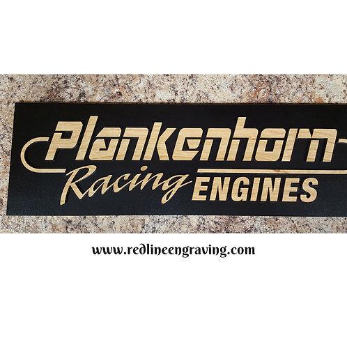 Custom Wood Inlay Sign